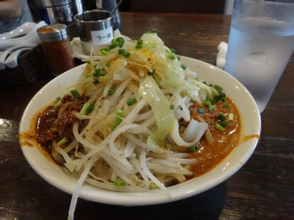 スープなし坦々麺・ジャージャー麺のミックス