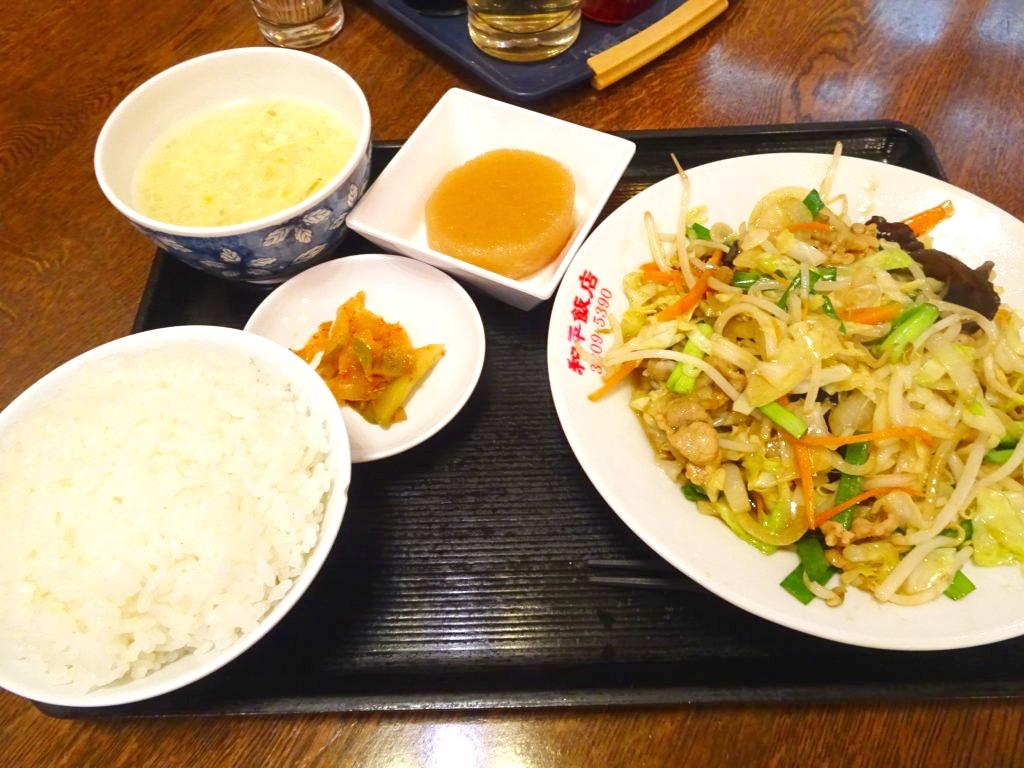 和平飯店 豚肉と野菜の炒め