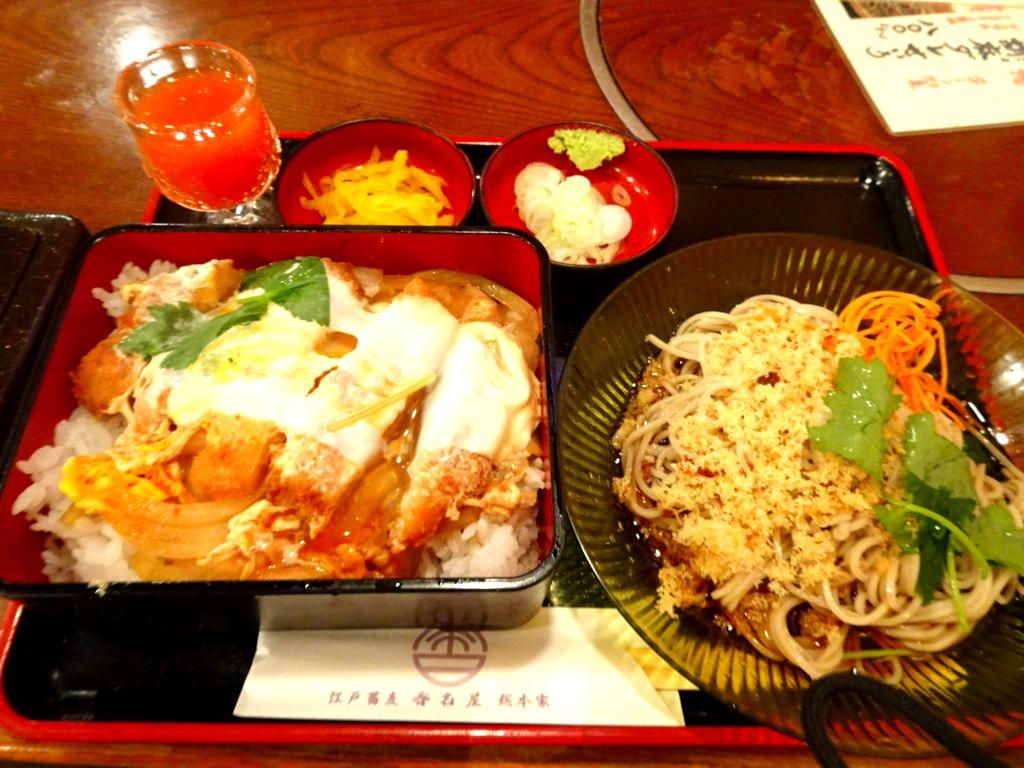 丼と蕎麦のセット(カツ丼)