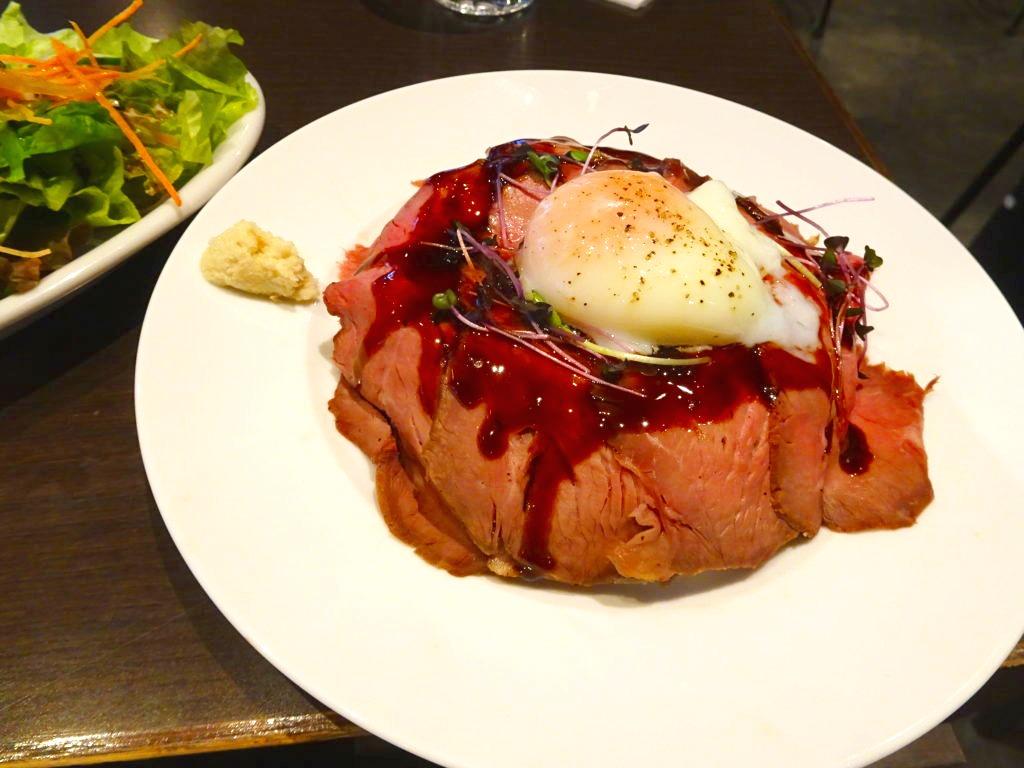国産牛のローストビーフ丼!!