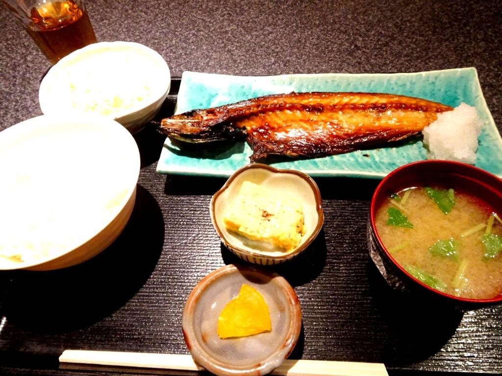 本日の焼魚定食(金華サバ)