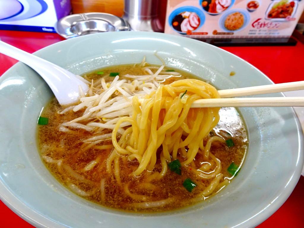 くるまやラーメンの麺