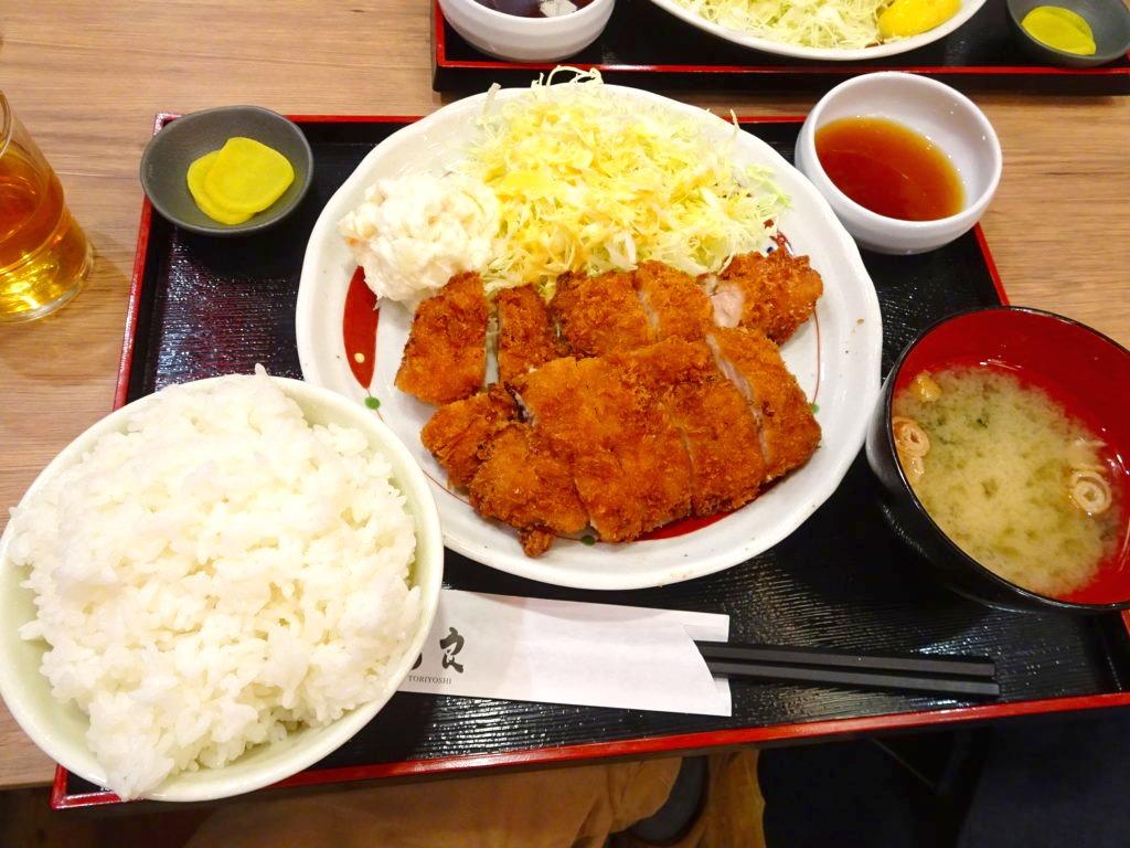 チキンカツおろしポン酢定食
