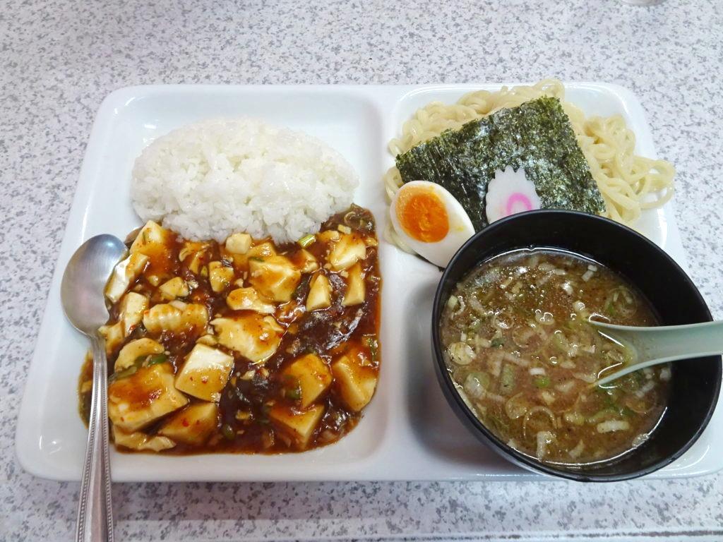 つけ麺と麻婆豆腐セット