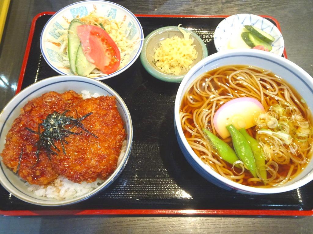 ソースかつ丼セット(温そば)