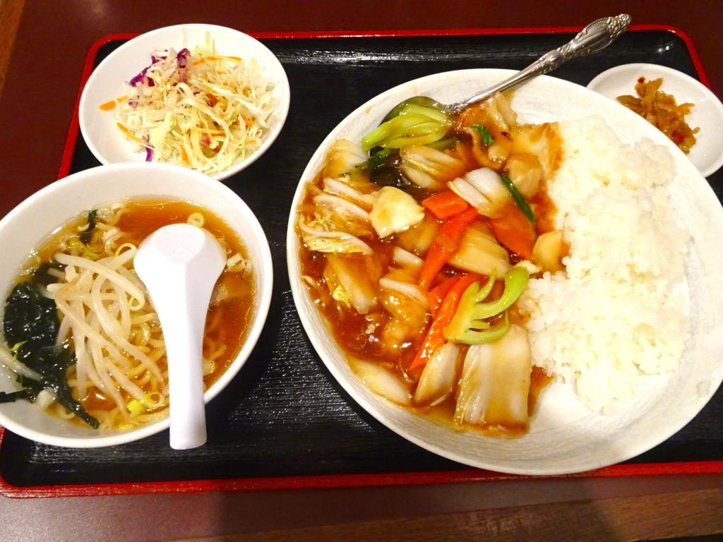 中華丼セット(小ラーメン)