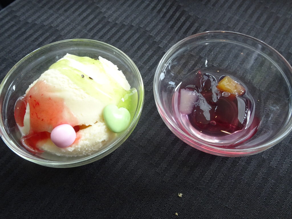 アイスとゼリー