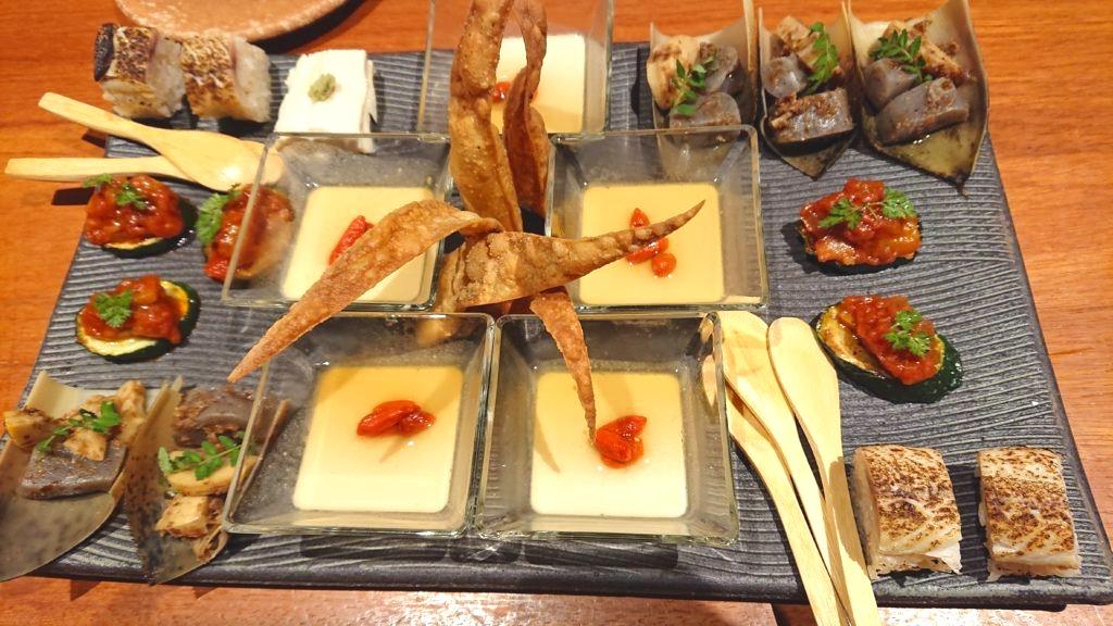 蕎麦と魚 銀平 恵比寿ガーデンプレイス店 先付け