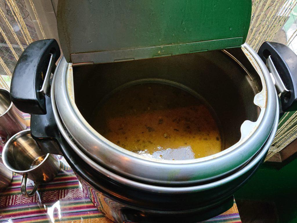 ヒマラヤ鍋のスープ