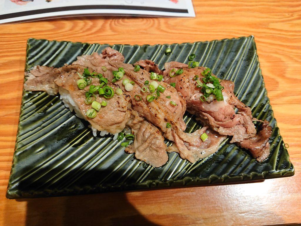 牛リブロースのお寿司