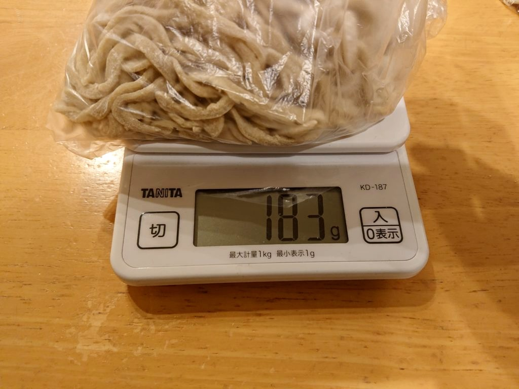 183gの麺