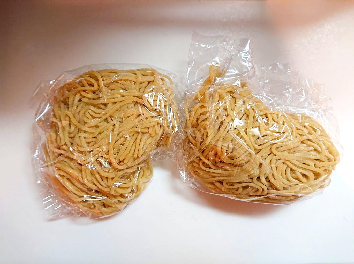 細麺の生麺