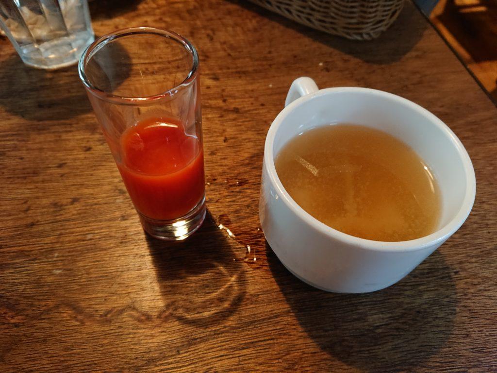 スープと一口野菜ジュース