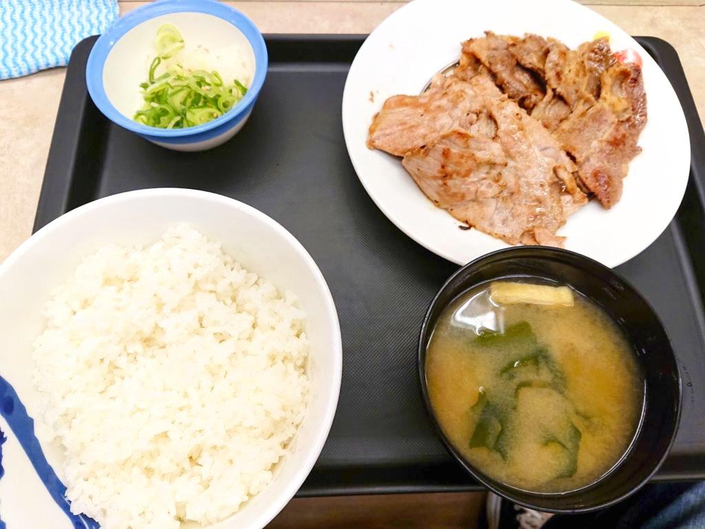 [夜松]豚焼肉と牛カルビの鉄板コンビセット