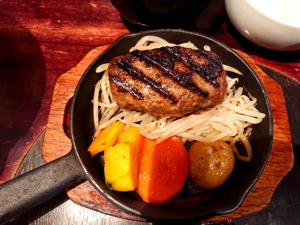 ラムハンバーグ定食