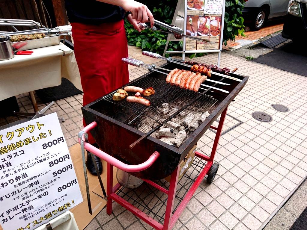 シュラスコレストランALEGRIA shibuya 店頭パフォーマンス