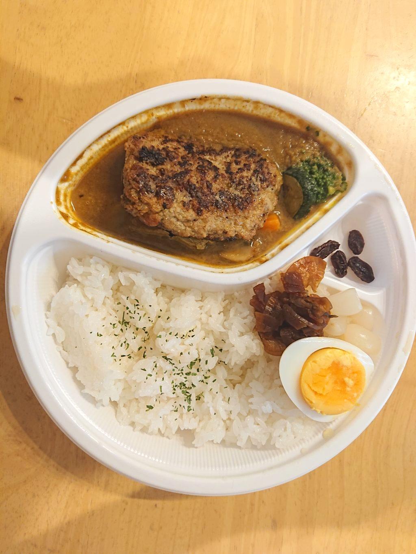 sio弁当(ハンバーグカレー)