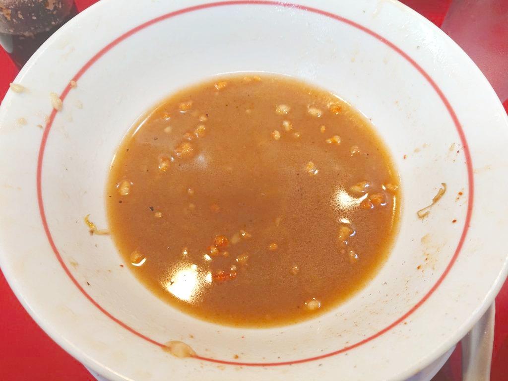 千里眼 (センリガン) 完食後のスープ