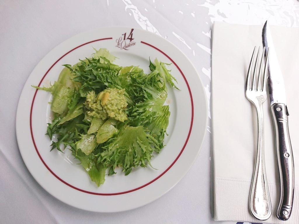 ル・キャトルズ (Bistrot 14) ランチのサラダ