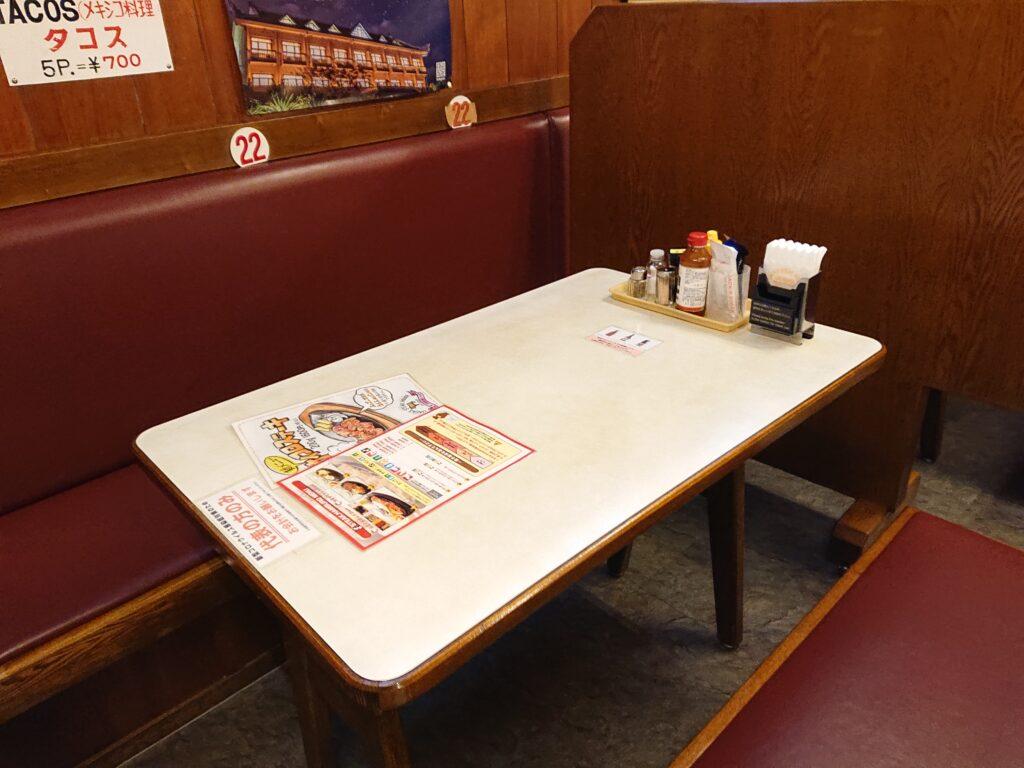 ジャッキー ステーキハウス (JACK'S STEAK HOUSE) テーブル席