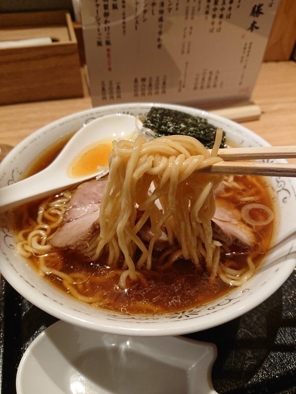 虎ノ門 勝本 中華そばの麺