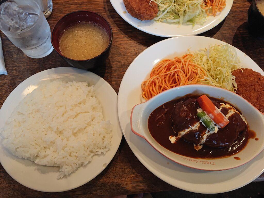 キッチン・ダダ@神谷町 デミ煮込みハンバーグセット