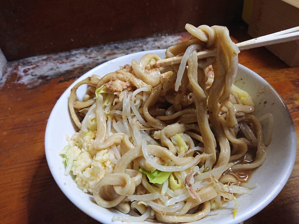 蓮爾 新町一丁目店 (ハスミ) 極太麺 リフトアップ