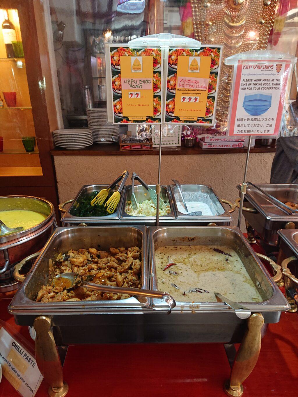ニルワナム 神谷町店 (Nirvanam) ビュッフェのカレーとお惣菜